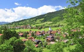 Die Aussicht auf Bad Oberdorf und Bad Hindelang