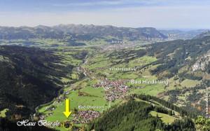Blick auf Bad Oberdorf und Bad Hindelang
