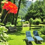Die Liegeplätze im Garten